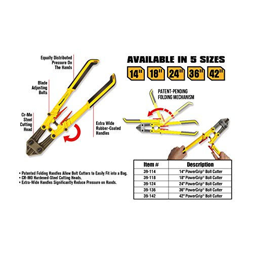 Olympia Tools 39-124 Power Grip Bolt Cutter, 24-Inch
