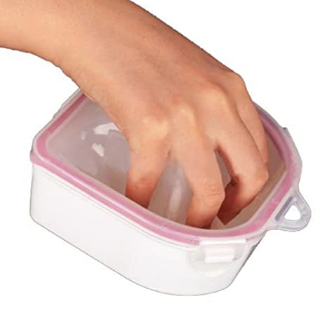 1 cuenco de doble capa de plástico para manicura, para quitar las uñas y limpiar las puntas de los dedos.: Amazon.es: Belleza