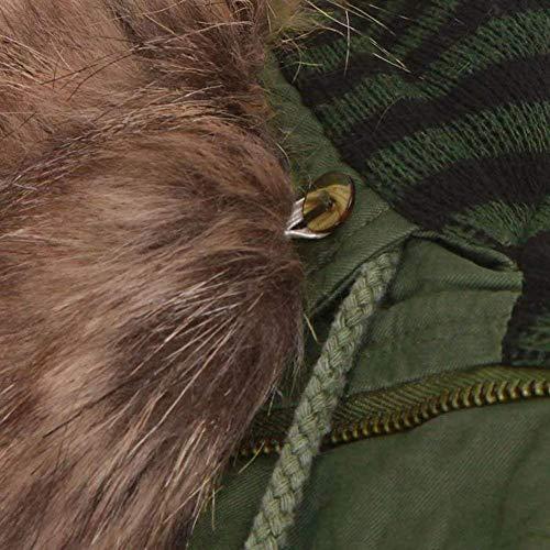 Colori Cerniera Vento Solidi Lunga Giacca Mode Manica Marca Trench Tasche Di Giovane Transizione Con Armygreen Giacche Anteriori Coulisse Donna Moda Invernali Cappuccio IqvzH