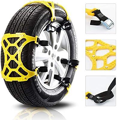 Universal neumático de coche antideslizante cadena tendón de poliuretano emergencia nieve para la mayoría de camiones SUV 6Pcs rueda ajustable