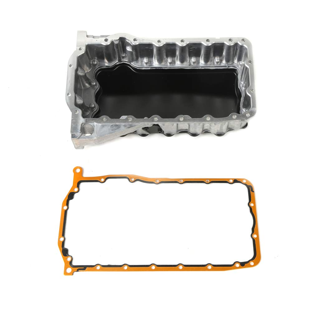 MOCA Engine Oil Pan with Gasket for 2002-2005 Volkswagen Jetta & Volkswagen Beetle 1.8L L4 DOHC Turbocharged OELINE Auto Parts