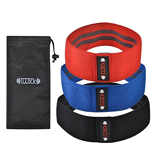 Cheap LWXJC Hip resistance band, cotton woven resistance band; stretching, lifting and squatting; stretching hip to gain strength; soft non-slip elastic inner exercise band.