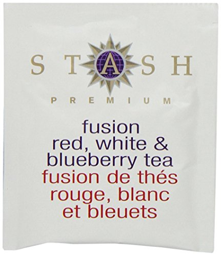 Stash Tea Fusion Red White & Blueberry Tea 10 Count Tea Bags in Foil (Pack of 12) (Packaging May Vary) Individual Tea Bags for Use in Teapots Mugs or Cups, Rooibos and White Tea, Brew Hot or Iced by Stash Tea (Image #3)