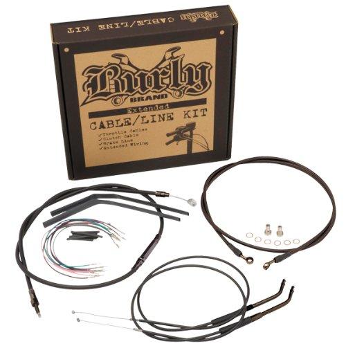 Burly Brand Cable/Brake Line Kit for Ape Hangers for Harley Davidson 2007-13 FXD Models - ()