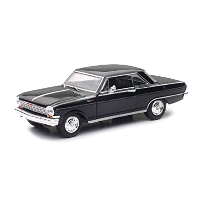New Ray 71823B 1964 Chevrolet Nova SS Black Muscle Car Collection 1/25 Diecast Model Car: Toys & Games