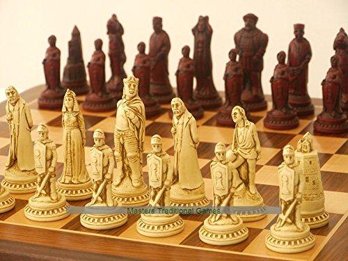 2019春の新作 Berkeley Shakespeare not Ornamental Chess Set Set (cream Shakespeare and red, board not included) B07BBVY7TL, 出産祝い*ブレーメンの散歩道:14f81bba --- nicolasalvioli.com
