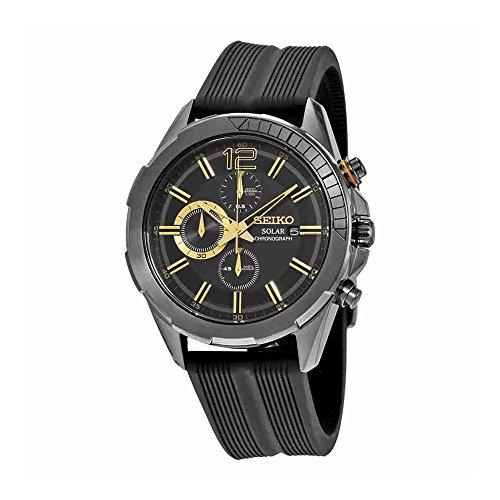 Seiko Men's SSC385 RECRAFT Solar Chrono Analog Display Japan...