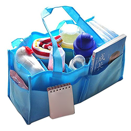 Baby Boy Girl Diaper Nappy Mother Bag Portable Handbag (Blue) - 5