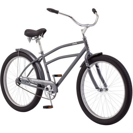 26.5'+ Schwinn Aerovane Men's Cruiser Bike | Schwinn Quality Padded Spring Seat | Rear Coaster Brake