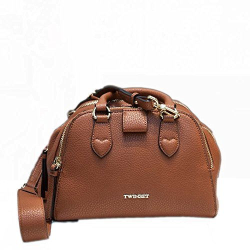 Borsa a Spalla in Ecopelle con Tracolla Marrone AS7PT2 - Twin Set