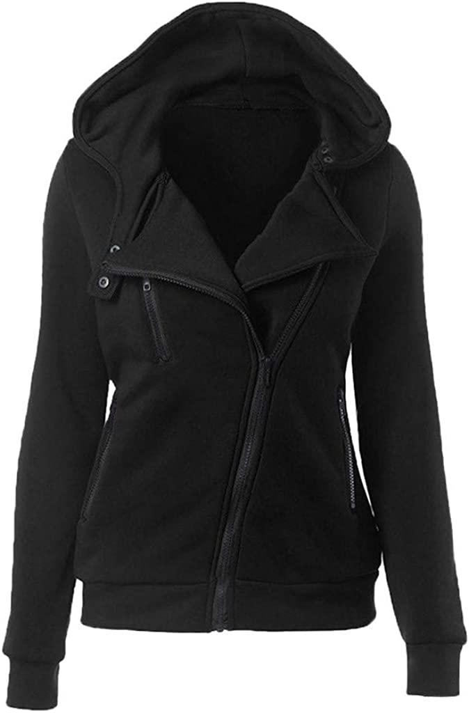 Goddessvan Fashion Womens Thermal Casual Long Hoodie Zip Up Jacket Hooded Warm Coat Jackets
