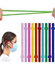 Kalolary 200pcs High Stretch Elastic Bands with Adjustable Buckle, 10 Colors Elastic Cord Bands Stretchy Ear Band Straps Sewing, for Adult Children Face Cover Making DIY Crafts Supplies