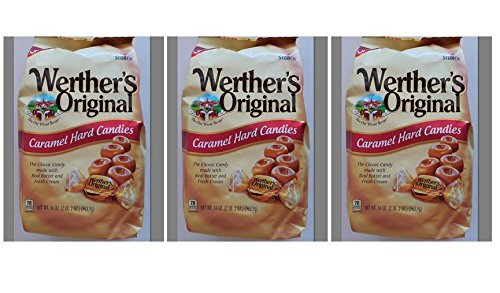 Werther's Original Caramel Hard Candy, 34.0-Ounce Bags - Pack of 3 by Werther's