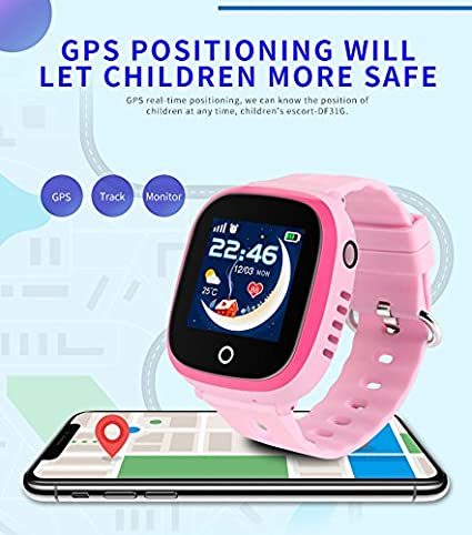 Amazon.com: IP67 Waterproof GPS Tracker Kids Smart Watch for Children Girls Boys Holiday Birthday Gifts with Camera SIM Calls Anti-lost SOS Smartwatch ...