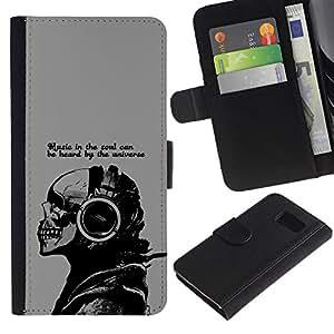 // PHONE CASE GIFT // Moda Estuche Funda de Cuero Billetera Tarjeta de crédito dinero bolsa Cubierta de proteccion Caso Sony Xperia Z3 Compact / Music In The Soul Message /