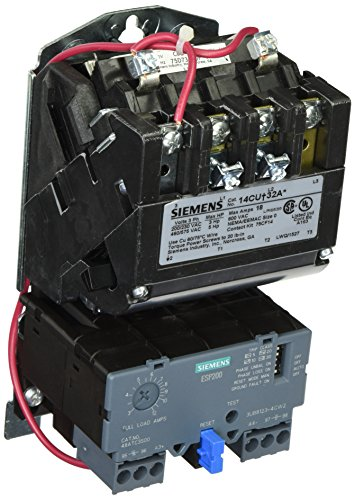 Siemens 14CUC32AF Heavy Duty Motor Starter, Solid State Overload, Auto/Manual Reset, Open Type, Standard Width Enclosure, 3 Phase, 3 Pole, 0 NEMA Size, 3-12A Amp Range, A1 Frame Size, 120 - Amp 3 480 Pole Volt