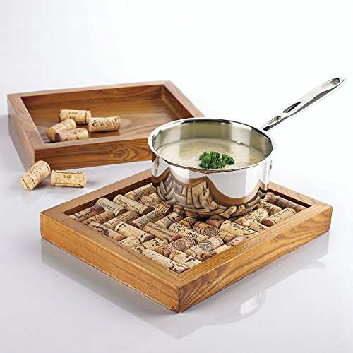 'Wine Enthusiast Cork Trivet Kit' from the web at 'https://images-na.ssl-images-amazon.com/images/I/51ZONT58b3L.jpg'