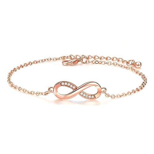 Together forever quot Love Armband, 925 Sterling Silber verstellbarer  Charme Infinity Heart Endless Love Symbol 085f3041e9