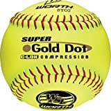 Worth Sports SYCO Super Gold Dot W00514761 Softball 12'' 44/400, Yellow