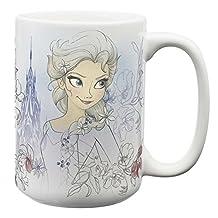 Zak! Designs Large Ceramic Mug with Frozen Graphics, 15 oz. Capacity