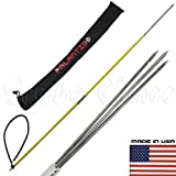 Scuba Choice 5' Travel Spearfishing Two Piece Fiber Glass Pole Spear 3 Prong Barb Paralyzer & Bag