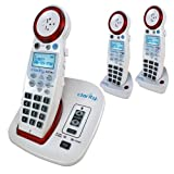 Clarity XLC3.4+ Severe Hearing Loss Cordless Phone with 2 XLC3.6+ HS