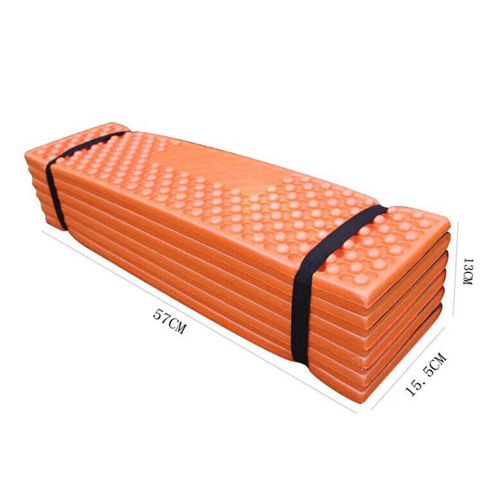 Plegable para Picnic Impermeable para Exteriores Tienda de campa/ña de Espuma Ultraligera Esterilla de Dormir para Playa Acampada GFULLOV a Prueba de Humedad Black Orange