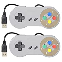 Game USB Controllers,Beyond Hope Classic Game Retro USB Super  Controller,USB PC Controller, Raspberry Pi Controller for Windows PC / MAC / Raspberry Pi (2 Pack)