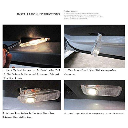 BAILONGJU Easy Installation Car Door LED Logo Projector Ghost Shadow Lights for Nissan Altima Armada Maxima Titan Quest