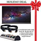 """Holiday Deal Brand New! LG OLED65G6P Flat 65"""" Inch 2160p Smart 3D - 4K Ultra HD TV - Black + 2 Bonus HDMI Cables + 10 Plug Home Theater Surge Protector!"""