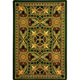 Joy Carpets Games People Play Jackpot Gaming Area Rugs, 92-Inch by 129-Inch by 0.36-Inch, Emerald