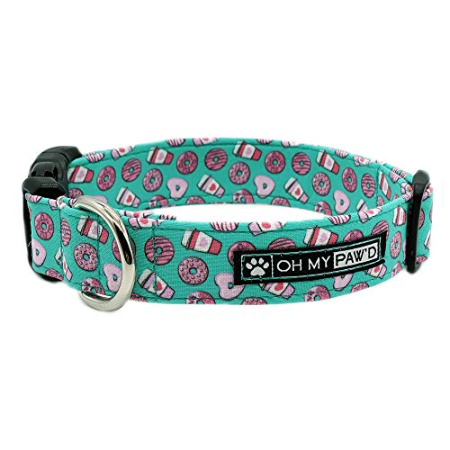 Hand Made Dog Collar by Oh My Pawd Cinco De Mayo Collar for Pets Size Extra Small 5//8 Inch Wide and 9-12 Inches Long