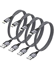 iPhone oplaadkabel RAVIAD Lightning kabel 4Pack 1.2M iPhone Charger Cable Nylon Fast Charger Lightning Cable Compatibel met iPhone X XS XR 11 10 8 8 Plus 7 7 Plus 6 6s Plus 5s 5 SE iPad
