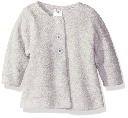 Zutano Baby Cozie Fleece Swing Jacket, Heather Gray, 18 Months