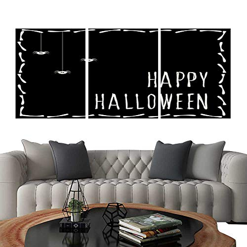 UHOO Canvas Print Wall Art Happy Halloween Card Template Abstract Halloween Pattern for Design Card Party Invitation Poster Album menu t Shirt Bag Print etc 2. Art Stickers 24