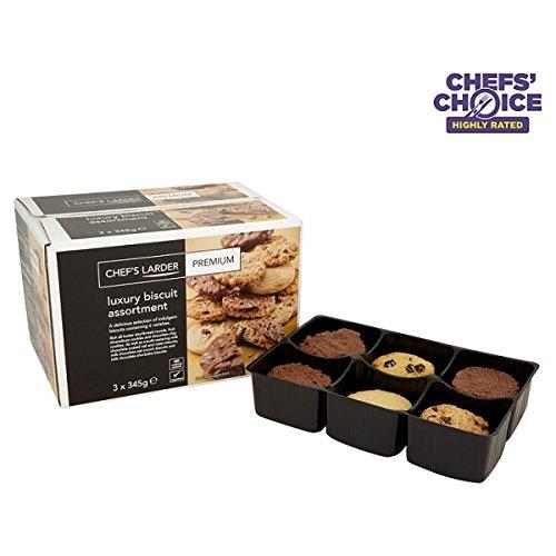 Chef's Larder Premium Luxury Biscuit Assortment 3 x 345g (Pack of 3x345g)