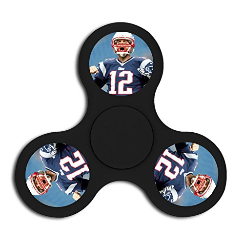 New England Patriots Fidget Spinner Triangle Finger Safety Toys Peg-top High Speed Hand Fun For Adults and Children