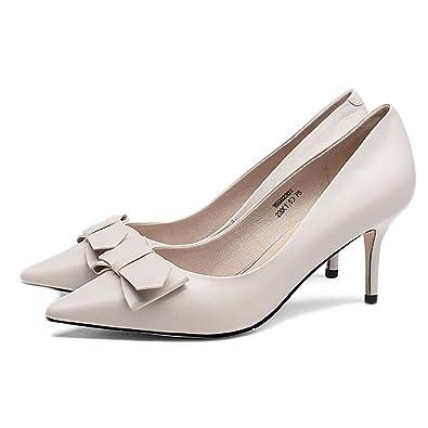 a6e90b1901e30d Frauen High Heels Spitzschuh Pumps Court Schuhe Damen Shallow Niet  Lederschuhe Kleid Hochzeit Brautschuhe