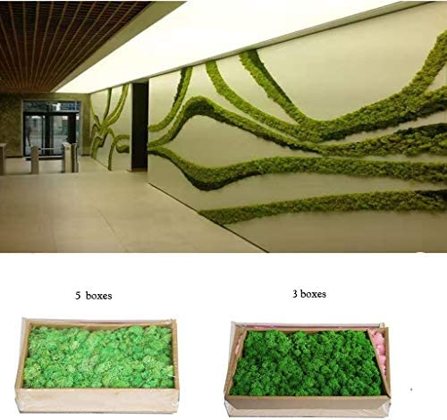 自分で設計した装飾用の人工苔、屋外の壁の装飾緑の苔芸術的な背景絵画