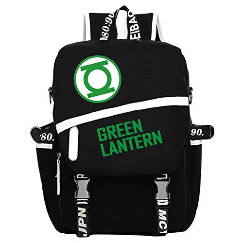 YOURNELO DC Comics Marvel Heroes High Capacity Rucksack School Backpack Bookbag (Green Lantern - Green Marvel Lantern Comics