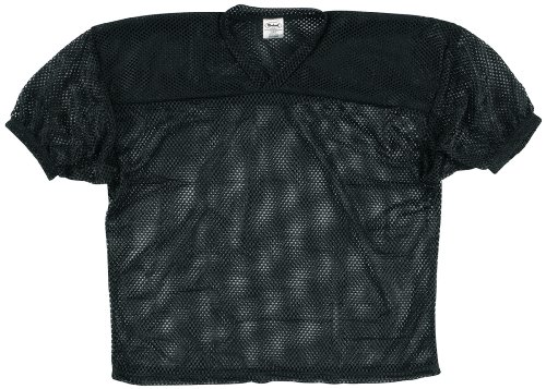 Markwort Youth Football Porthole Mesh Jersey (Black, Large/X-Large)