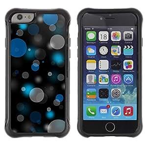LASTONE PHONE CASE / Suave Silicona Caso Carcasa de Caucho Funda para Apple Iphone 6 / Bokeh Blue & Gray Pattern