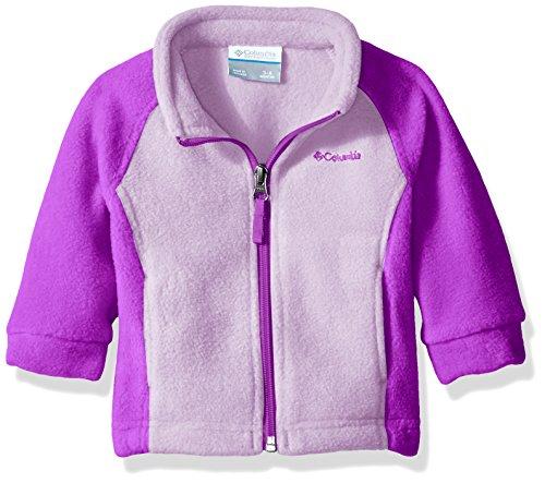 Columbia Baby Girls' Benton Springs Fleece, Hydrangea/Bright Plum, 12-18 Months
