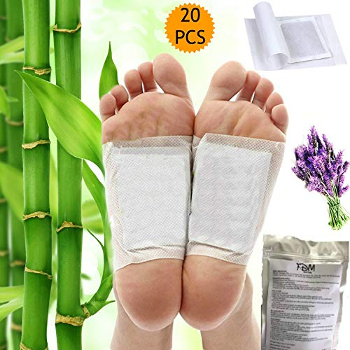 FDM 20 PCS Best Foot Pads | 100% All Organic and Natural Aromatherapy Foot Patches | Premium Best Foot Pads for Healthy Feet, Natural Deep Sleep Aid, Pain and Stress Relief | Bonus EBOOK