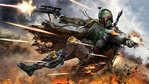 Tomorrow sunny 47X32 INCH / ART SILK POSTER / Boba Fett bounty hunters blaster Home Decoration Canvas Poster