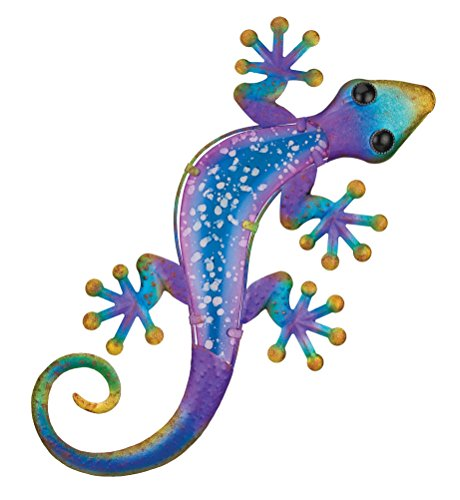 24 Inch Outdoor Wall - Regal Art & Gift 11349 Watercolor Gecko Wall Decor, 24