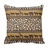 Throw Pillow Cover Africa African Leopard Mammal Home Square Size 16 x 16 inches Decorative Pillow Case Home Decor Square Zippered Square Pillowcases
