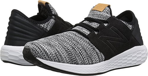 New Balance Men's Cruz V2 Fresh Foam Running Shoe, white/black, 11 D US