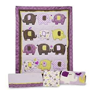 Amazon Com Carter S 4 Piece Crib Bedding Set Elephant