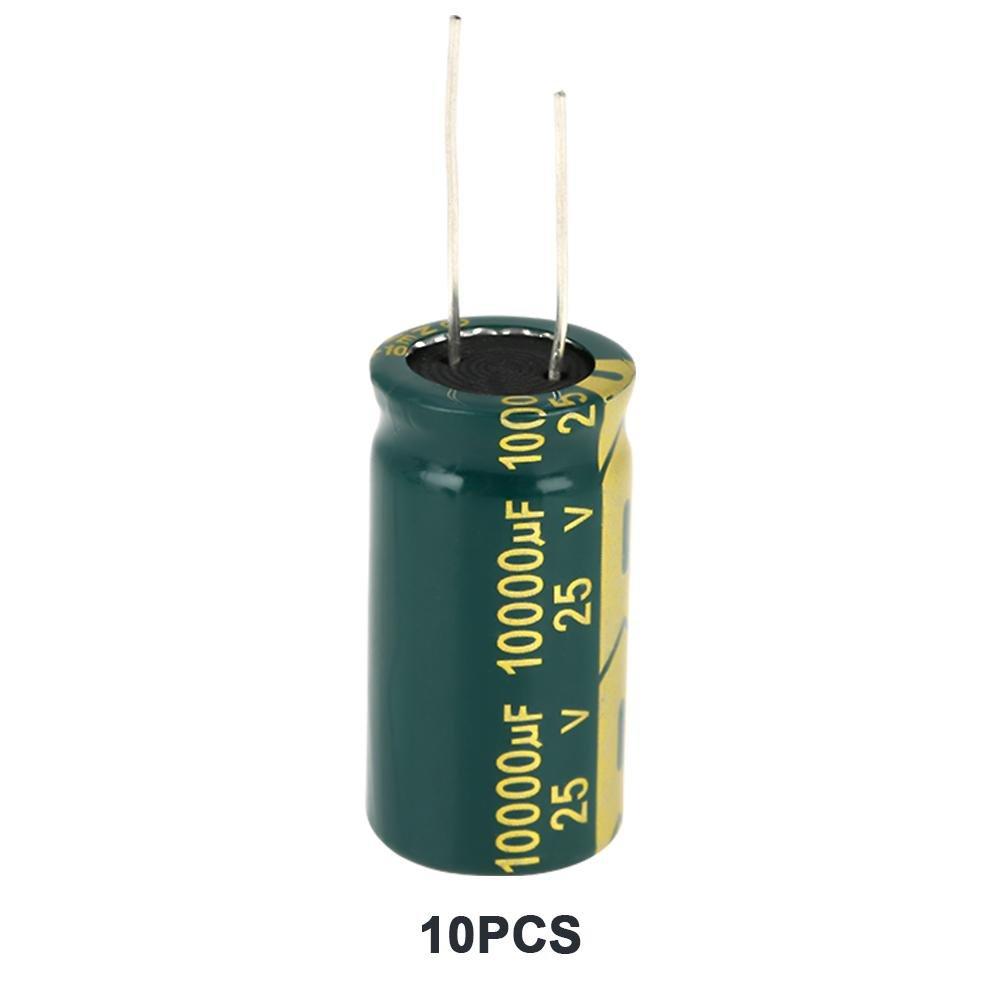 Zerone 1 Juego Verde Surtido de Condensador Electrol/ítico Radial Kit 16-450V Rango 100uf-10000uf para Proyectos Electr/ónicos Arduino 450V 100uf 10Pcs